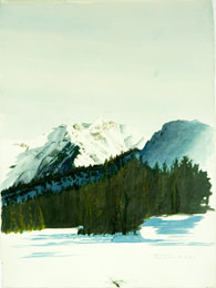 Rocky Mountains, Winter, 2/2009 Watercolour on paper, 76cmx56cm Courtesy of the Artist